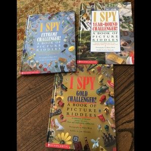 Almost 5 lbs of I Spy Books 4 books in all